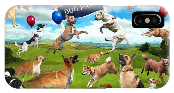 Dog Park Party IPhone Case