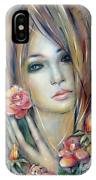 Doll With Roses 010111 IPhone Case