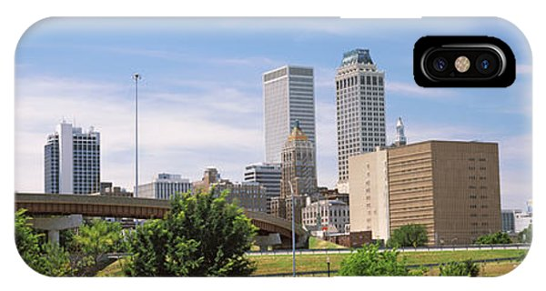 Centennial Bridge iPhone Case - Downtown Skyline From Centennial Park by Panoramic Images