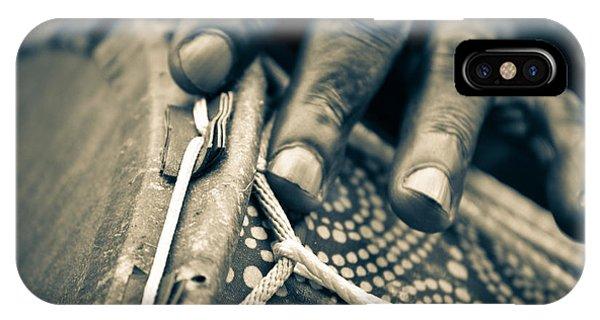 Drum Maker's Hands II IPhone Case