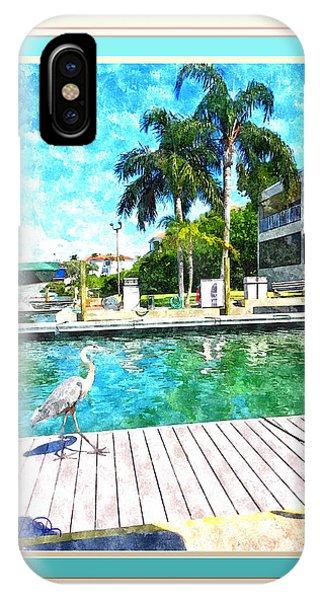 Dry Dock Bird Walk - Digitally Framed IPhone Case