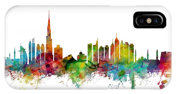 Dubai Skyline IPhone Case