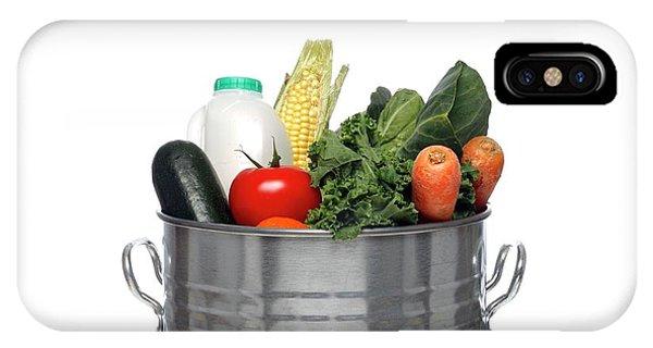 Rubbish Bin iPhone Case - Dust Bin Full Of Fresh Food by Victor De Schwanberg/science Photo Library