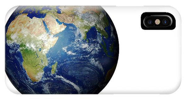 Cutout iPhone Case - Earth From Space by Mikkel Juul Jensen