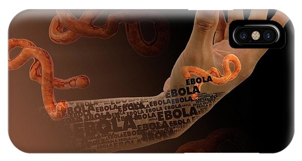 Virus iPhone Case - Ebola Epidemic by Victor Habbick Visions