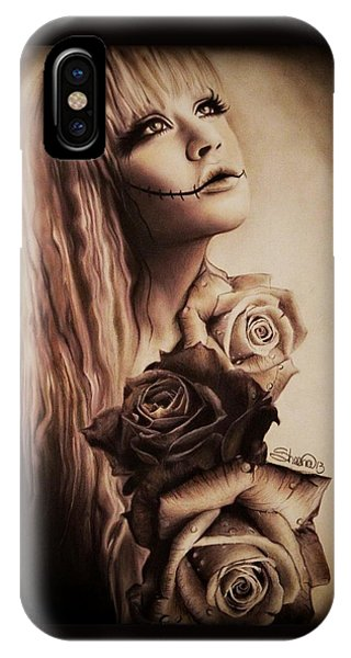 Gothic iPhone Case - Ebony by Sheena Pike