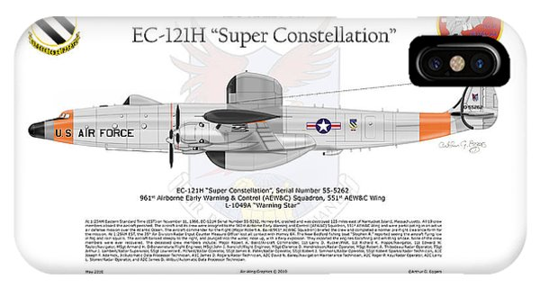 Ec-121h Super Constellation Phone Case by Arthur Eggers