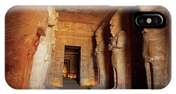 East Africa iPhone Case - Egypt, Abu Simbel, The Greater Temple by Miva Stock