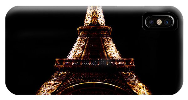Eiffel Tower At Night Phone Case by Sandy MacNeil