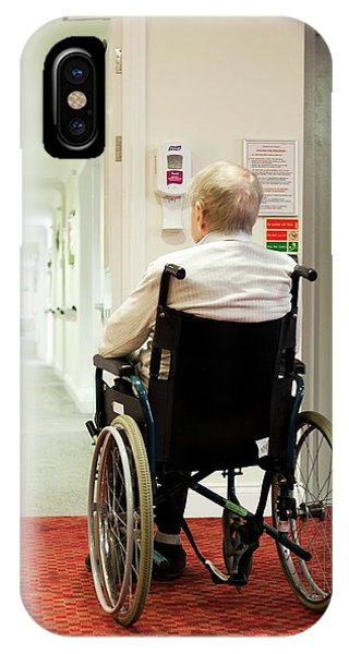 Assisted Living iPhone Case - Elderly Man In A Wheelchair by John Cole