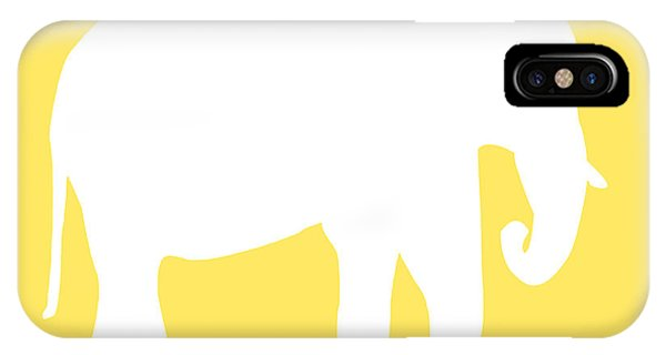 Elephant In Yellow And White IPhone Case