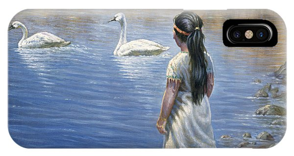 Enjoying The Trumpeter Swans IPhone Case
