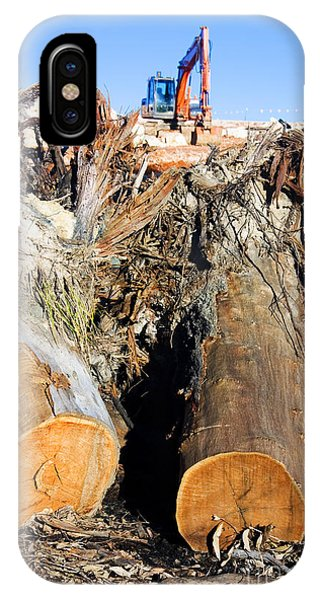 Developed iPhone Case - Environmental Destruction In Construction  by Jorgo Photography - Wall Art Gallery