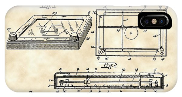 Etch-a-sketch iPhone Case - Etch A Sketch Patent 1959 - Vintage by Stephen Younts