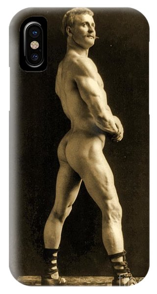 Physical iPhone Case - Eugen Sandow by Napoleon Sarony