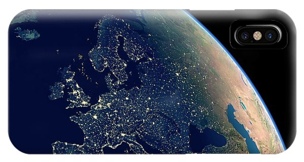 Europe At Night Phone Case by Planetary Visions Ltd/science Photo Library