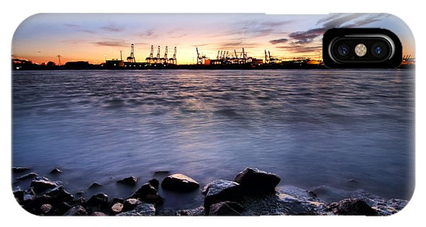 Evening At The Port Of Hamburg IPhone Case
