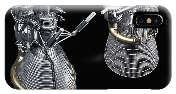 20th Century Man iPhone Case - F-1 And J-2 Rocket Engines by Carlos Clarivan/science Photo Library