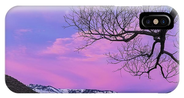 iPhone Case - Fading Winter Moon by Nancy Marie Ricketts