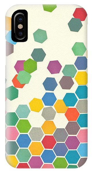 Mustard iPhone Case - Falling Down by Cassia Beck