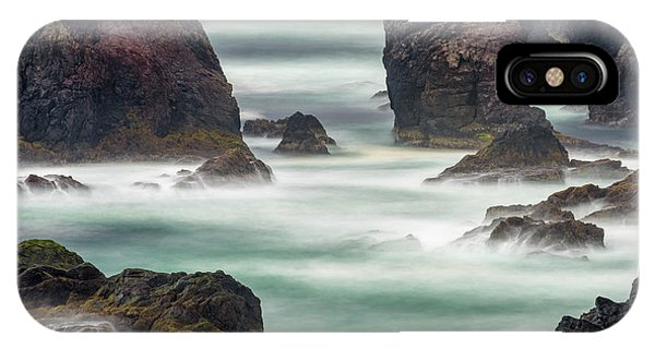 Northern Scotland iPhone Case - Famous Cliffs And Sea Stacks Of Esha by Martin Zwick