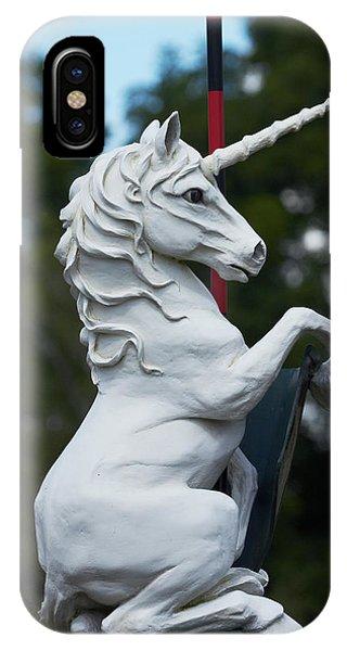 Unicorn iPhone Case - Fantasy Beast At Tudor Gardens by David Wall