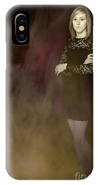Smoke Fantasy iPhone Case - Fantasy Portrait by Amanda Elwell