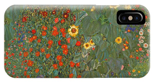 Elegant iPhone Case - Farm Garden With Sunflowers by Gustav Klimt