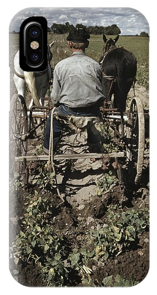 Bean Town iPhone Case - Farming, 1940 by Granger