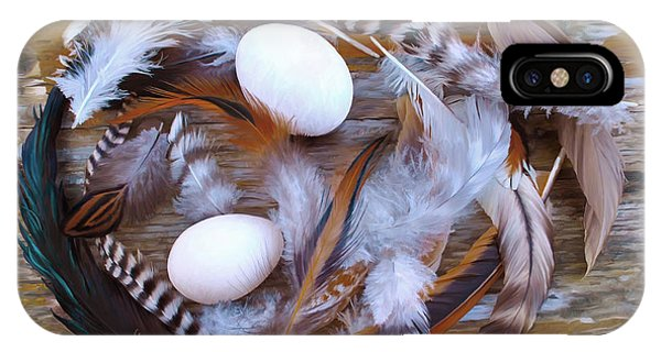 1. Feather Wreath Example IPhone Case