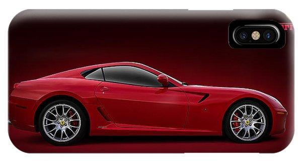 Red iPhone X Case - Ferrari 599 Gtb by Douglas Pittman