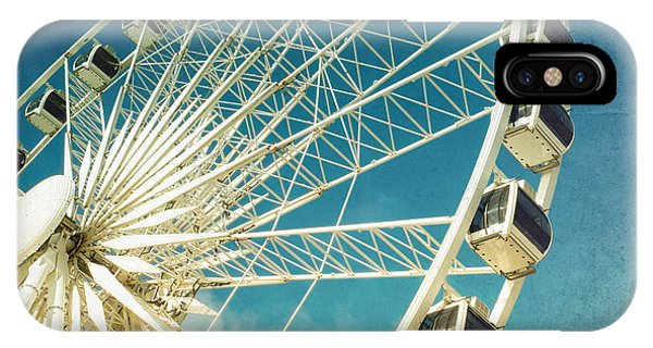 Sky iPhone Case - Ferris Wheel Retro by Jane Rix