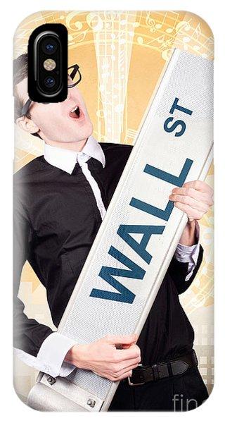 Finance iPhone Case - Finance Man Rocking Wall Street Stock Market by Jorgo Photography - Wall Art Gallery