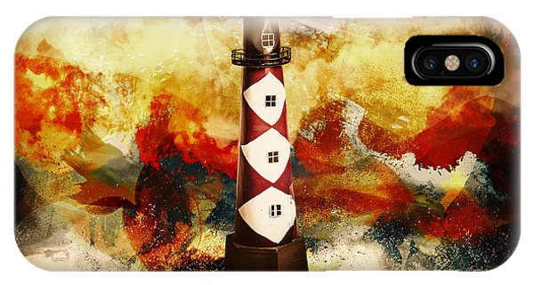 Beam iPhone Case - Fire On Lighthouse Hill by Jorgo Photography - Wall Art Gallery