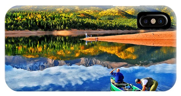 Fishing At Crystal Reservoir IPhone Case
