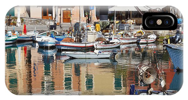 fishing boats in Camogli  IPhone Case