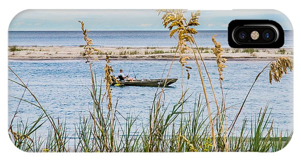 Fishing In Pawleys Island Inlet IPhone Case
