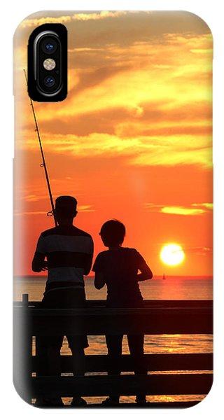 Fishing Pier Mount Sinai New York  IPhone Case