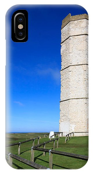 IPhone Case featuring the photograph Flamborough Old Lighthouse by Susan Leonard
