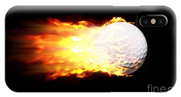Flame Golf Ball IPhone Case