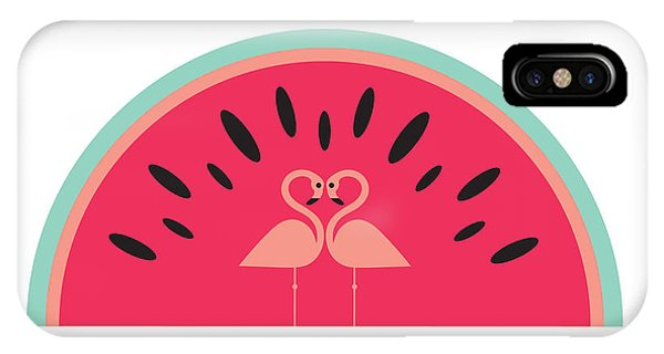 Flamingo Watermelon IPhone Case