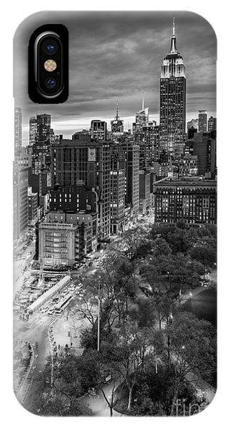 Building iPhone Case - Flatiron District Birds Eye View by Susan Candelario