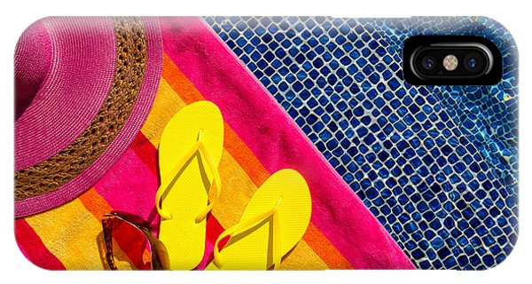 e5c468ac3eff The Flop iPhone Case - Flip Flops By The Pool by Teri Virbickis