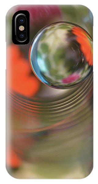 Orange Color iPhone Case - Floral Sphere by Heidi Westum