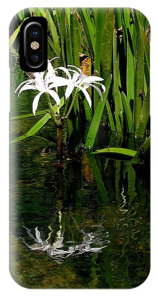 Deep Reflection Of Flower  IPhone Case