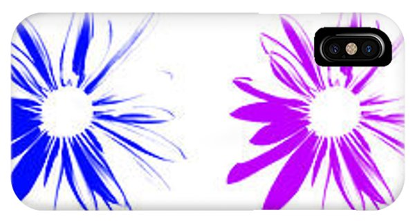 Flowers On White IPhone Case