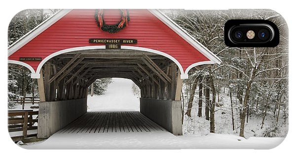 Flume Covered Bridge - White Mountains New Hampshire Usa IPhone Case