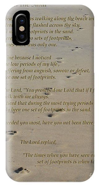 Footprints In The Sand Poem IPhone Case