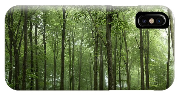 Fog iPhone Case - Forest... by Leif L??ndal