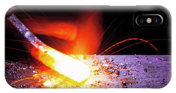 Anvil iPhone Case - Forging Metal by Simon Lewis/science Photo Library